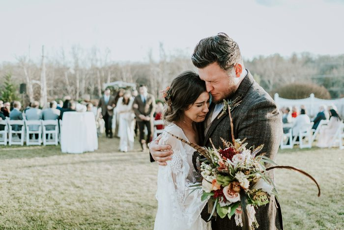 An eclectic boho wedding with owls
