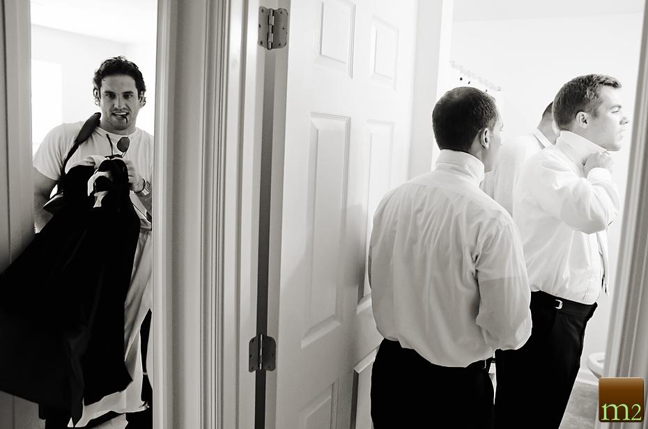 Philadelphia wedding photography groom preparation
