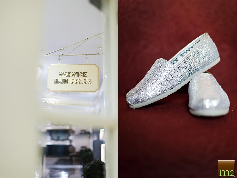 Toms wedding shoes sliver glitter