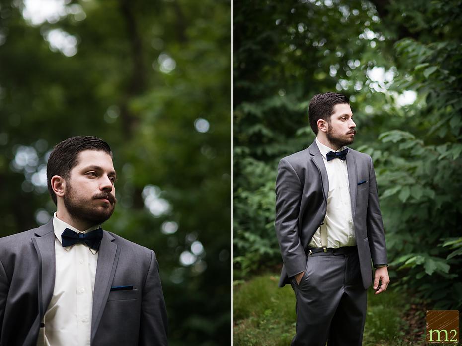 stylized groom bowtie