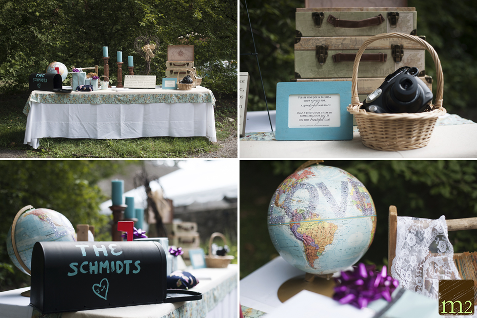 creative vintage sign in wedding table