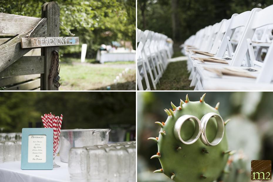 paper straws at wedding