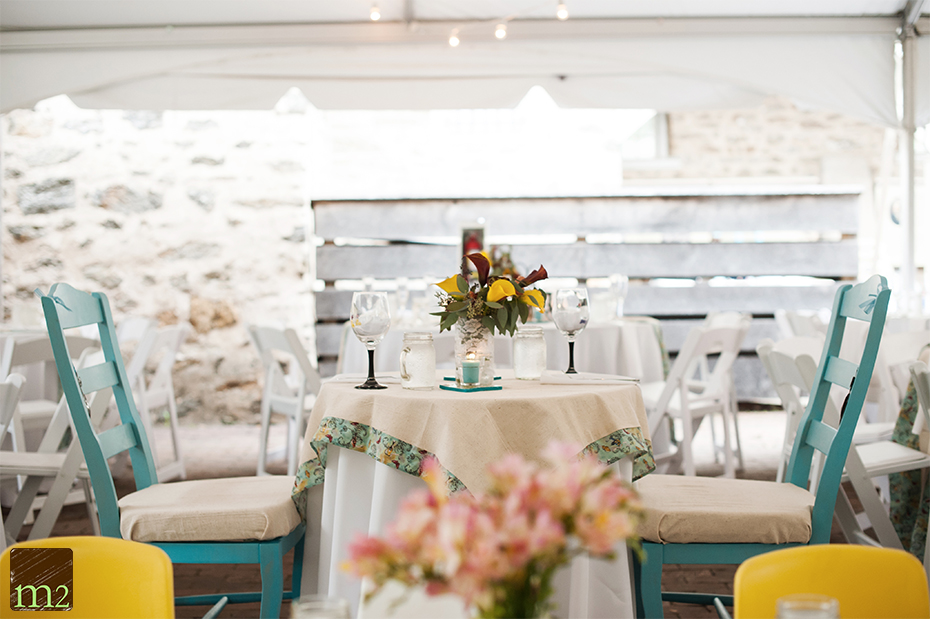 cute eco-sweetheart table