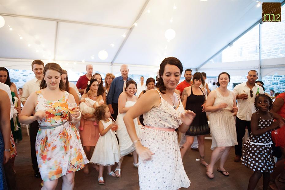 Salsa Lesson at wedding