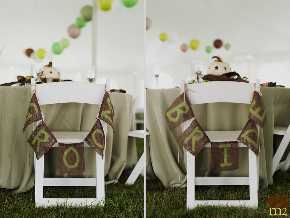 Burlap wedding detail ideas