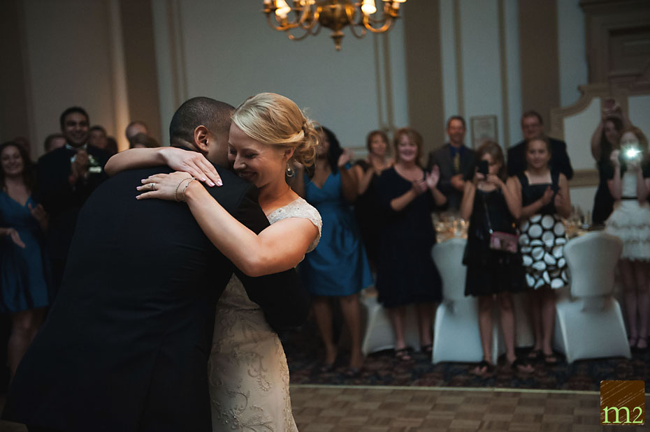 bride crying during first dance