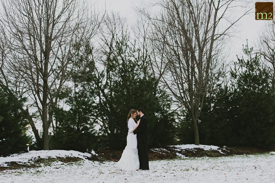 Bride-Groom-snowy-portrait