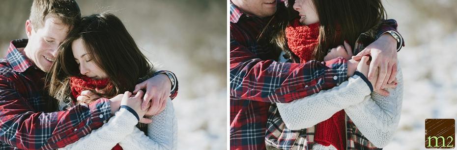 flannel-snow-engagement-shoot