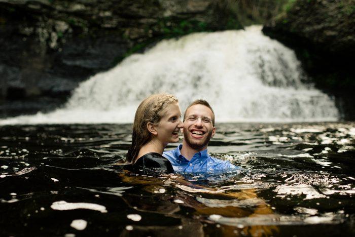 waterfall-engagement-photo