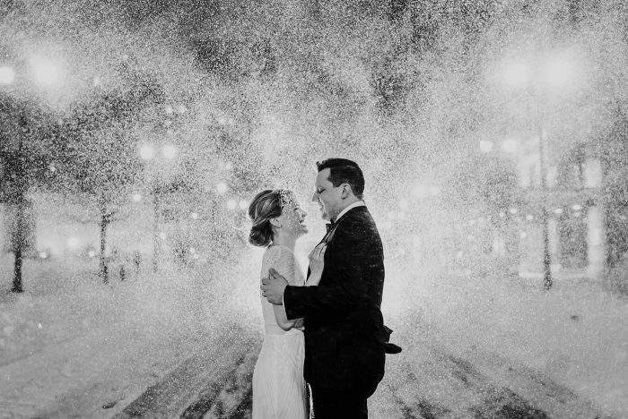 Blizzard wedding